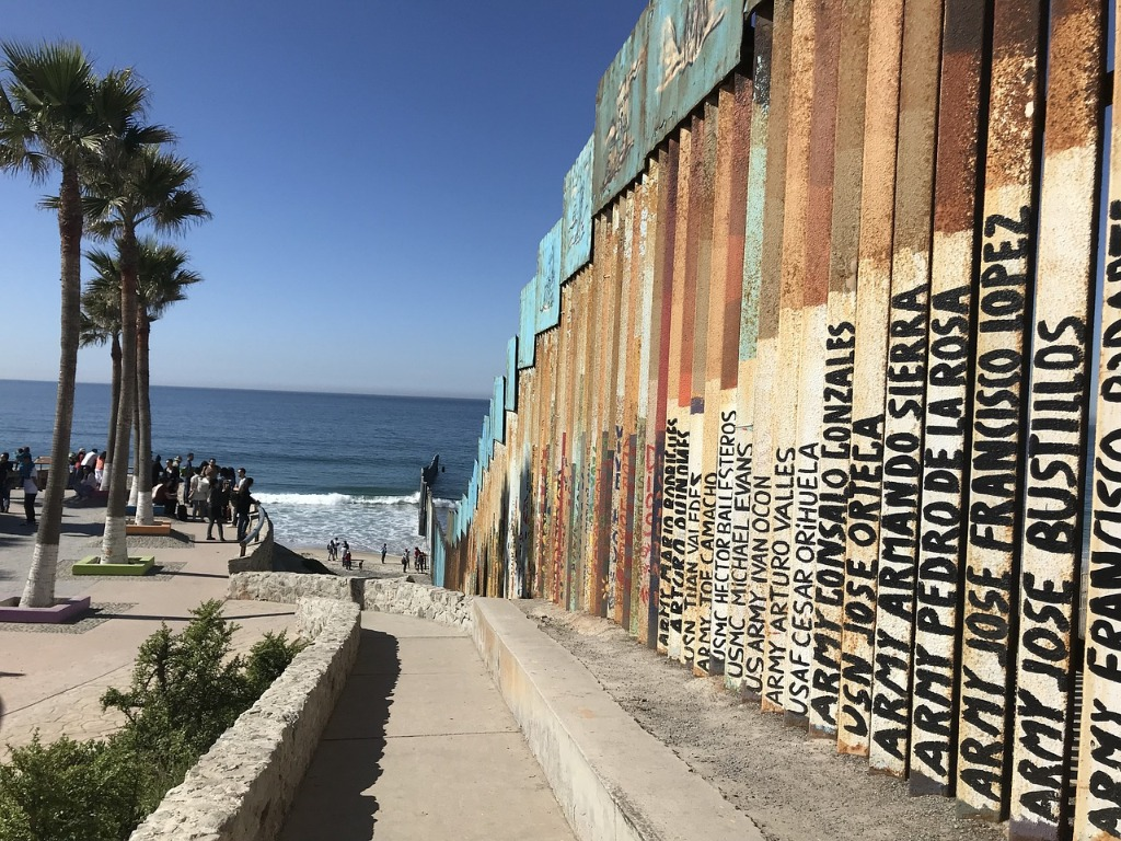 Tijuana baja california mexico frontera estados unidos playa